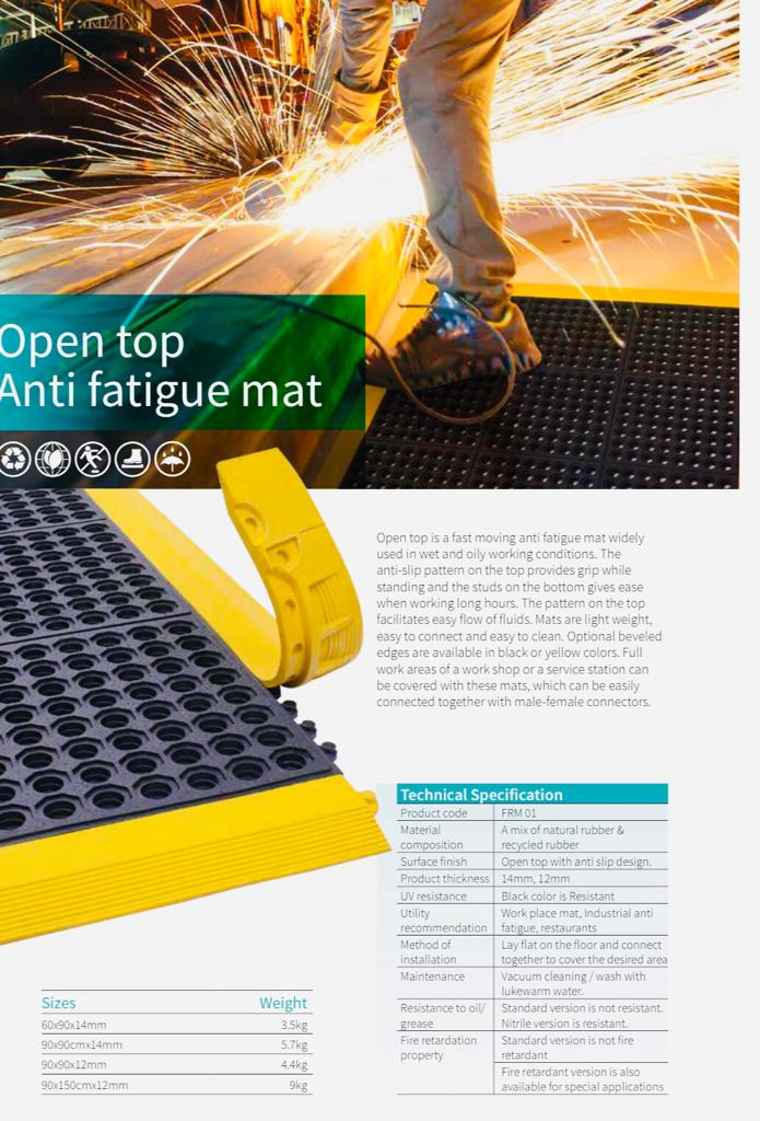 Open Top Anti Fatigue Mats