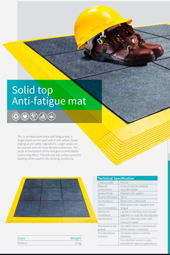 Solid Top Anti Fatigue Mats