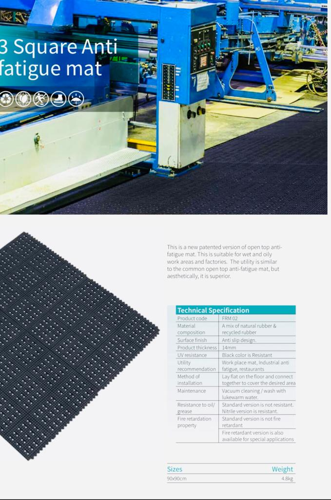 3 Square Anti Fatigue Mats