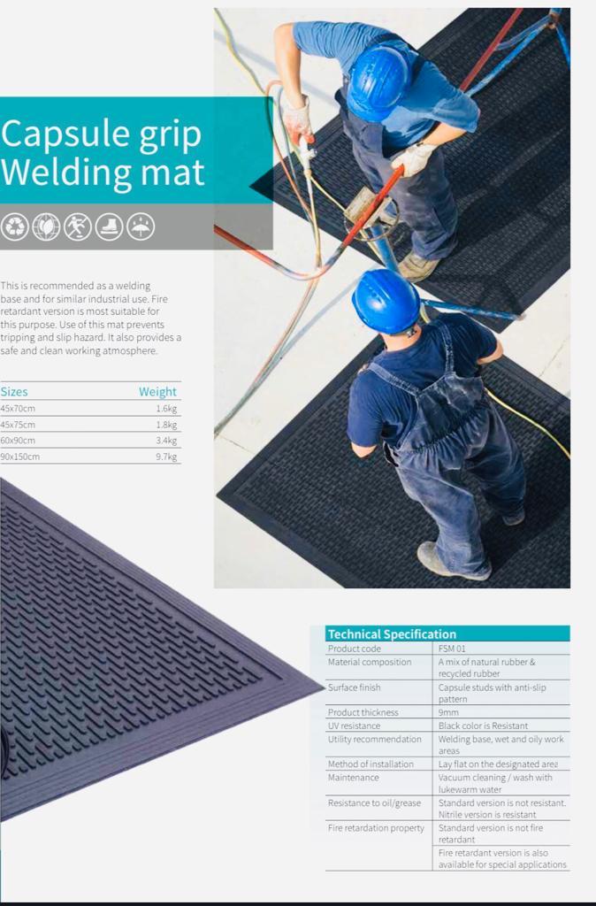 Capsule Grid Welding Mats