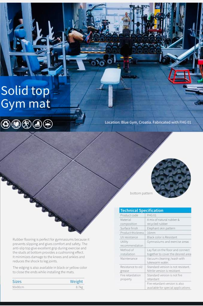 Solid Top Gym Mats