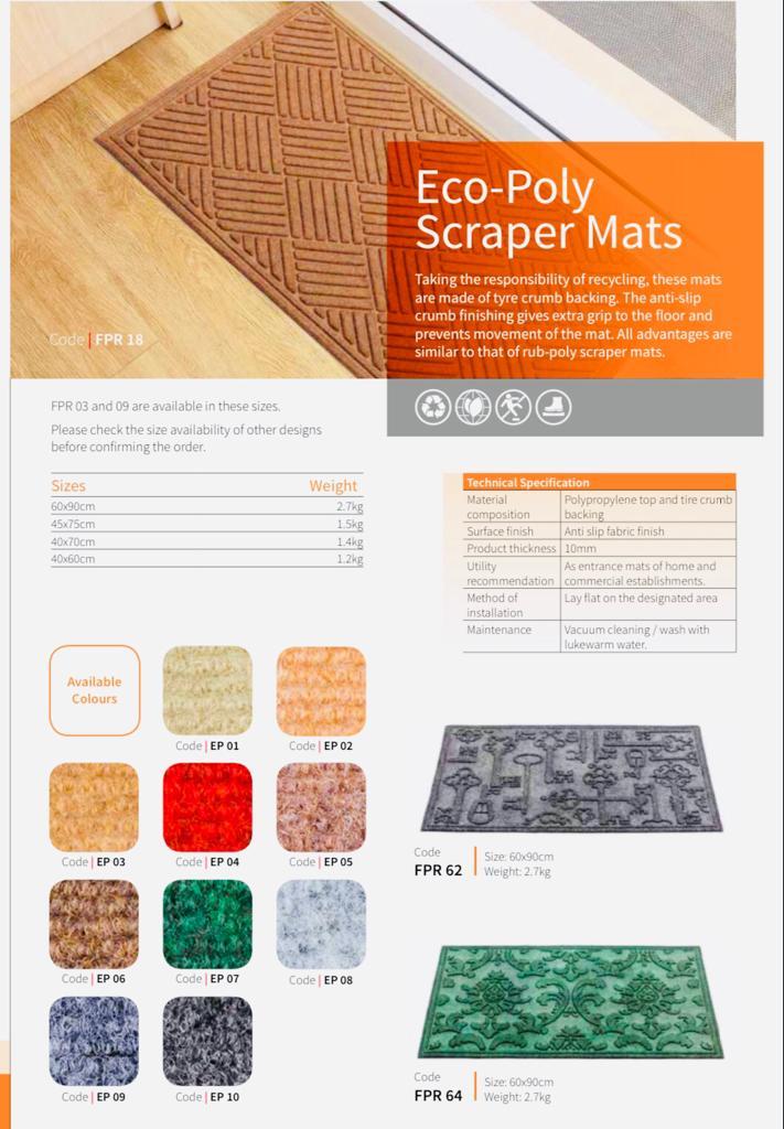 Eco-Poly Scraper Mats