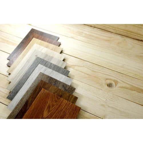 Laminated floor tiles