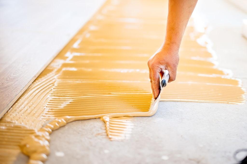 Glue Down the Tiles